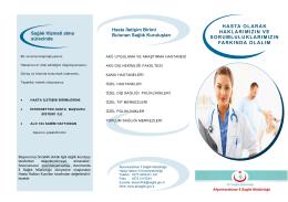 hasta hakları broşürü - Afyonkarahisar İl Sağlık Müdürlüğü