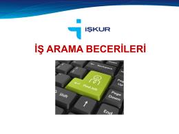 İŞ ARAMA BECERİLERİ - Kocaeli Üniversitesi Teknoloji Fakültesi