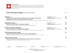 Margaux Restaurant Menü
