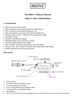 DA-70200-1 • Kullanım Kılavuzu USB 2.0