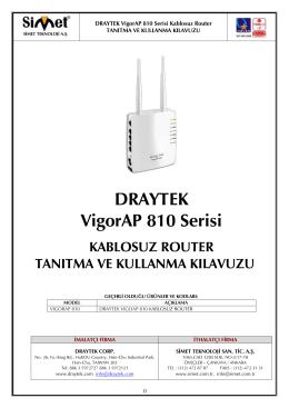 DRAYTEK VigorAP 810 Serisi - Simet İletişim ve Bilgisayar