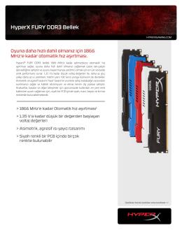 HyperX FURY DDR3 Bellek