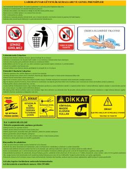 laboratuvar güvenlik kuralları ve genel prensipler