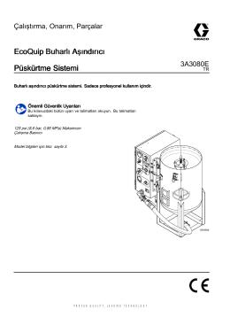 3A3080E, EcoQuip Buharlı Aşındırıcı Püskürtme Sistemi
