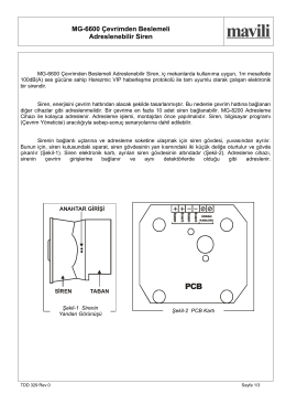 MG-6600 Çevrimden Beslemeli Adreslenebilir Siren