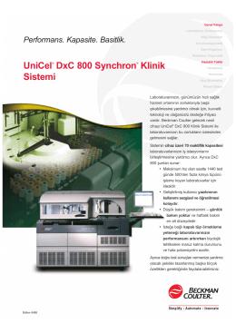 UniCel® DxC 800 Synchron® Klinik Sistemi
