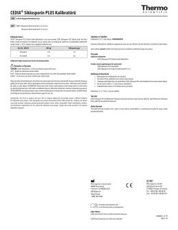 CEDIA® Siklosporin PLUS Kalibratörü