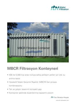 MBCR Filtrasyon Konteyneri