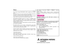 Önsöz - Mitsubishi Motors