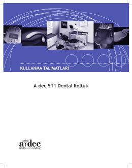A-dec 511 Dental Koltuk Kullanma Talimatları