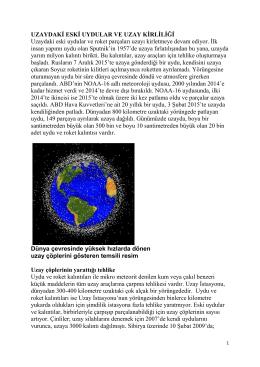 Uzaydaki Eski Uydular Ve Uzay Kirliliği