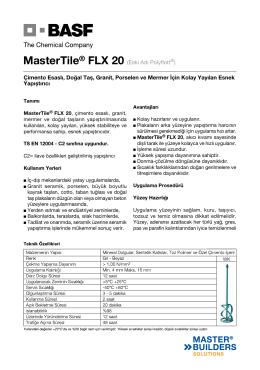MasterTile® FLX 20 (Eski Adı Polyflott®) Çimento