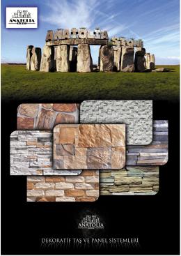 katalog - Anatolia Stone Dekoratif Taş ve Panel Sistemleri