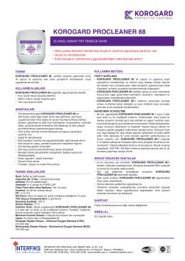 KOROGARD PROCLEANER 88 - İnterfiks Yapı Kimyasalları