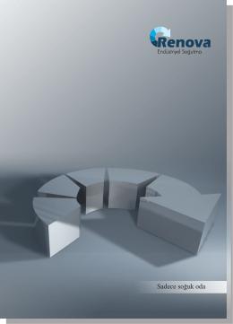 Sadece soğuk oda - Renova Endüstriyel Soğutma Sistemleri