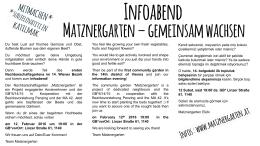 Flyer zum Infoabend