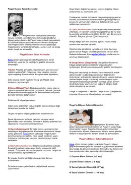 Piaget Kuramı Temel Kavramlar Piaget kuramı
