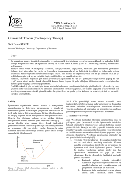 Olumsallık Teorisi (Contingency Theory), 6 – 11