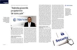 Aslında Güvenlik Projelerinin Bir Sonu Yok Telecom.tr