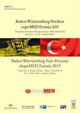 Baden-Württemberg Pavilion expoMED Eurasia 2015