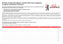 Schulpetition — Unterschriftenliste, türkisch