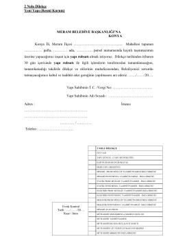 19-2 nolu dilekçe yapı ruhsatı resmi kurum