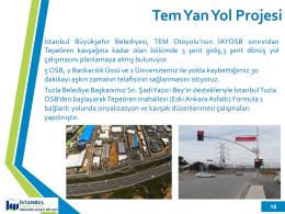 Tem Yan Yol Projesi