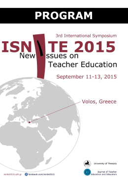 PROGRAM - ISNITE 2015