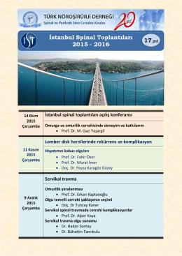 İstanbul Spinal Toplantıları 2015