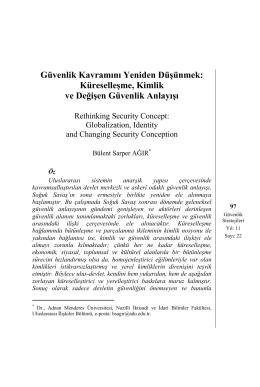 Güvenlik Kavramını Yeniden Düşünmek: Küreselleşme, Kimlik ve