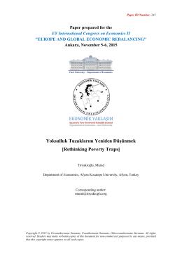 Yoksulluk Tuzaklarını Yeniden Düşünmek