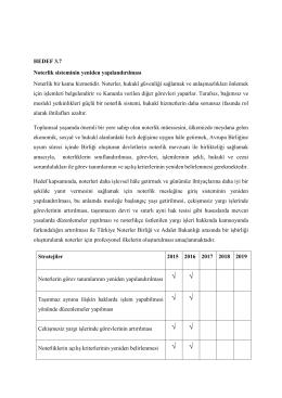Yargı Reformu Strateji Noterlik Bölümü