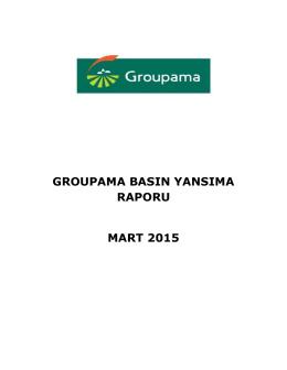 groupama basın yansıma raporu mart 2015