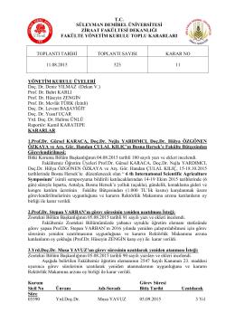11.08.2015 Tarihli 523 sayılı karar