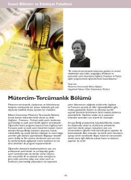 Mütercim-Tercümanlık Bölümü