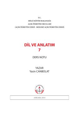 dil ve anlatım 7 - TC Milli Eğitim Bakanlığı
