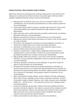 Üsküdar Üniversitesi Üsküdar Üniversitesi Bilişim Kaynakları