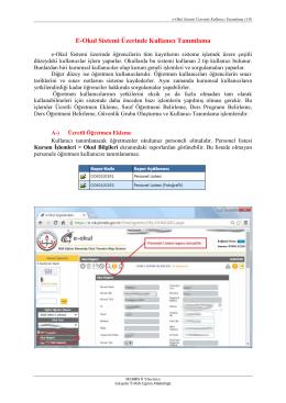 E-Okul Sistemi Üzerinde Kullanıcı Tanımlama