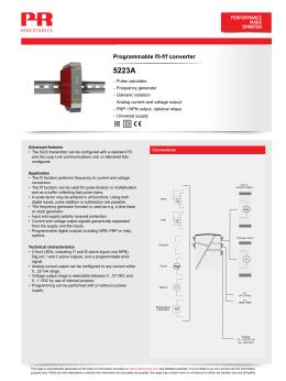 Programmable f/I-f/f converter