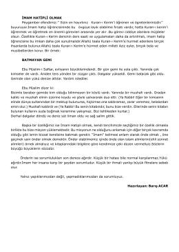 Nisan - Kastamonu Anadolu İmam Hatip Lisesi