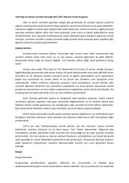 Türk Kalp ve Damar Cerrahisi Derneği 2015