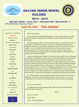 Faaliyet Bülteni 10.03.2015