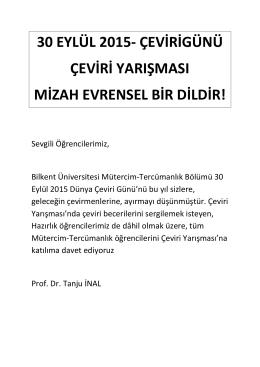 30 eylül 2015- çevirigünü çeviri yarışması mizah evrensel bir dildir!