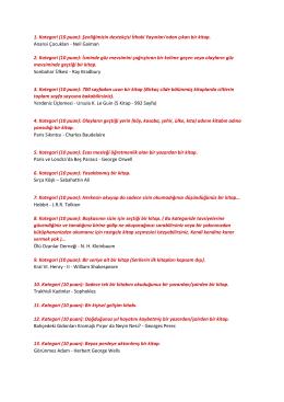 1. Kategori (10 puan): Şenliğimizin destekçisi İthaki Yayınları`ndan