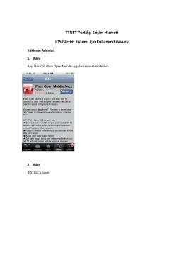 TTNET Yurtdışı Erişim Hizmeti iOS İşletim Sistemi için