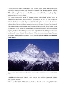 Orta Asya`nın Konumu ve Sınırları II