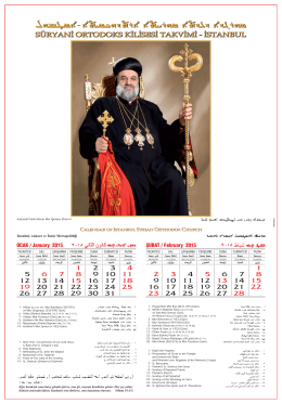 2015_istanbul_Takvim rev3 - Süryani Kadim Ortodoks Kilisesi