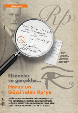 Efsaneler ve gerçekler... Horus`un Gözü`nden Rp`ye
