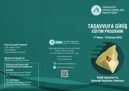 TASAVVUFA GİRİŞ - Üsküdar Üniversitesi