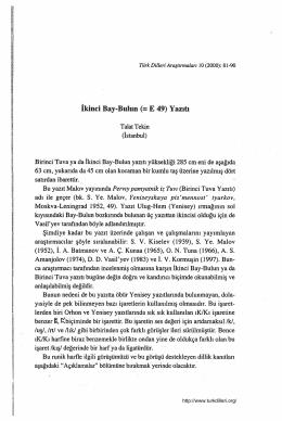 İkinci Bay-Bulun (= E 49) Yazdı